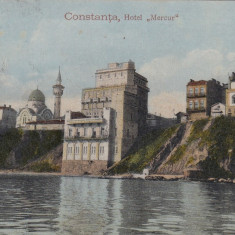 CONSTANTA, HOTEL MERCUR, CIRCULATA - Carte Postala Dobrogea dupa 1918, Printata