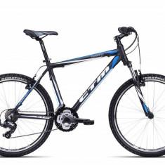 Bicicleta CTM Terrano 1.0, negru/albastru mat, cadru 21