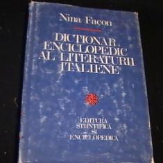 Dictionar Altele ENCICLOPEDIC AL LITERATURII ITALIENE-NINA FACON-396 PG-