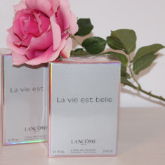 Parfum femei LANCOME LA VIE EST BELLE dama 75 ML Made in France APA DE PARFUM - Parfum femeie
