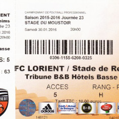 Bilet meci fotbal FC LORIENT - STADE DE REIMS 30.01.2016