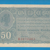50 bani 1917 BGR 4 aUNC - Bancnota romaneasca