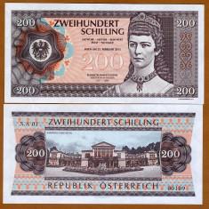 !!! AUSTRIA = FANTASY NOTE = 200 SCHILLING 2015 - UNC / IMPARATEASA SISSI - bancnota europa