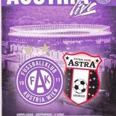 Program meci fotbal AUSTRIA VIENA - ASTRA GIURGIU 24.11.2016 Europa League