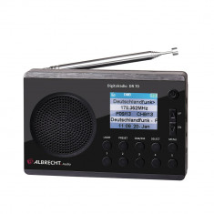 Resigilat : Radio digital DAB si FM Albrecht DR 70 cu display color 220V/baterii C - Aparat radio
