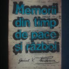 VASILE RUDEANU - MEMORII DIN TIMP DE PACE SI RAZBOI - Biografie