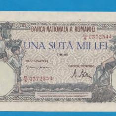 100000 lei 1947 8 mai 3 aUNC - Bancnota romaneasca