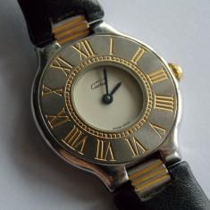 Ceas de damaMust de Cartier 21 -quartz -456 - Ceas dama Cartier, Analog