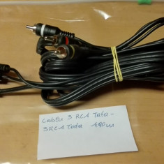 Cablu 3 RCA Tata - 3 RCA Tata 1, 90 m - Cablu Camera Video