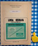 Limba germana contemporana morfo-sintaxa Doina Sandu
