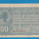 50 bani 1917 BGR 1 aUNC - Bancnota romaneasca