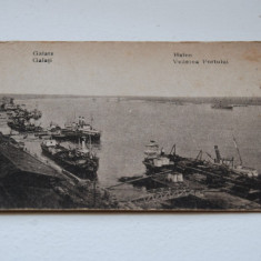 Galati Port - Carte Postala Moldova 1904-1918, Stare: Circulata, Tip: Printata