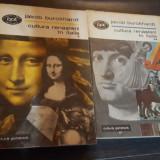 Cultura renasterii in Italia - Jakob Burckhardt - 2 vol. - 1969 - Carte Istoria artei