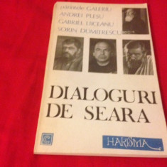 Pr. Galeriu, A. Pleșu, S. Dumitrescu și G.Liiceanu, DIALOGURI DE SEARĂ