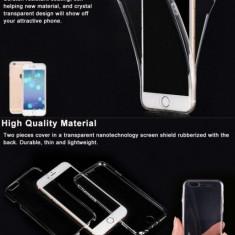 Husa iPhone 7 Plus Full Body TPU Transparenta - Husa Telefon Apple, Gel TPU, Fara snur, Carcasa