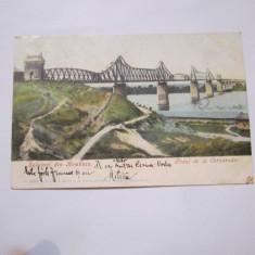 Cp podul de la cernavoda anul 1905 circulata - Carte Postala Dobrogea 1904-1918, Printata