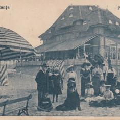 CONSTANTA PLAJA MAMAIA CIRCULATA 1919 - Carte Postala Dobrogea dupa 1918, Printata
