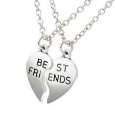 Pandantiv / Colier / Lantisor / Medalion BFF Best Friends Friend Forever 2 buc - Pandantiv fashion