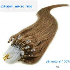 Extensii par microring naturale 100 % 60 cm