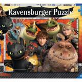 Puzzle Ravensburger Hicks, Astrid & Drache XXL