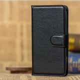 Husa Motorola Moto E3 Flip Case Inchidere Magnetica Black, Alt model telefon Motorola, Negru, Piele Ecologica