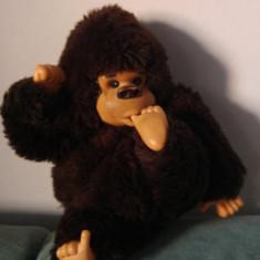 Jucarie plus maimutica Monchhichi (kiki, moncici) Gorila, 24cm, deosebita! - Jucarii plus