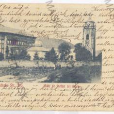 2887 - Litho, PIATRA NEAMT, Cathedral Sf. ION - old postcard - used - 1902 - Carte Postala Moldova pana la 1904, Circulata, Printata