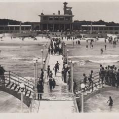 MAMNAIA CONSTANTA TOBOGANELE CIRCULATA 1935 - Carte Postala Dobrogea dupa 1918, Fotografie