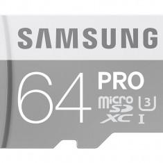 Card microSDXC cu adaptor Samsung 64GB MicroSDXC PRO Class 10