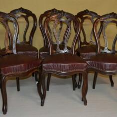 Set 6 scaune Louis Philippe