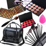 Set kit machiaj trusa profesionala 120 culori MAC + geanta makeup beauty blender