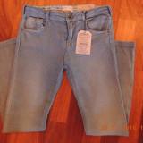 Pantaloni ZARA baieti 140 cm NOI 9-10 ani, Alta, Albastru