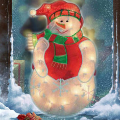 Om de zapada luminos, fixare pe fereastra, 44 cm - Ornamente Craciun