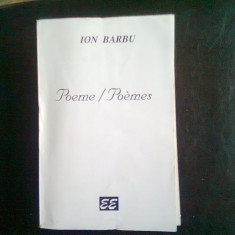 POEME POEMES - ION BARBU
