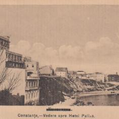CONSTANTA, VEDERE SPRE HOTEL PALLAS - Carte Postala Dobrogea dupa 1918, Necirculata, Printata