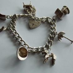 Bratara de argint cu charmuri 721 - Bratara argint
