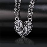 Pandantiv / Colier / Lantisor / Medalion  BFF  Best Friends Friend Forever 2 buc