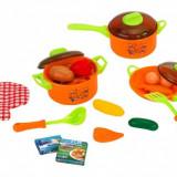 Set Accesorii Bucatarie Globo Oale Si Cratite Cu Capac Pentru Copii Din Plastic