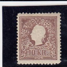 AUSTRIA 1866/70, MI 14, N. D. MNH, Nestampilat