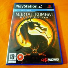 Joc Mortal Kombat Deception PS2, original, alte sute de jocuri! - Jocuri PS2 Altele, Actiune, 16+, Multiplayer