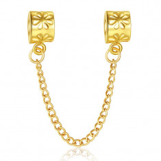Lant de siguranta GOLD placat aur 14k pt bratara PANDORA - Bratara placate cu aur pandora, Femei