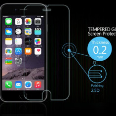 Apple Iphone 6/6S folie protectie ecran din sticla tratata termic 0.2mm - Folie de protectie TemperedGlass, Anti zgariere