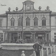 PANCIU, SALUTARI DIN PANCIU, CIRCULATA 1917 POSTA GERMANA FELDPOST - Carte Postala Moldova 1904-1918, Tip: Printata, Oras: Pascani