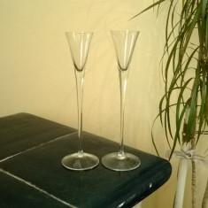 CUPE DIN STICLA VINTAGE PENTRU LIGHIOR SAU VIN MARCATE CU BLAZON PRIN GRAVURA - Pahare
