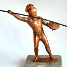 Suvenir Grecia, Atena - statueta spartan din aliaj - Regele Leonidas, Statuete