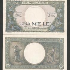 ROMANIA 1000 1.000 LEI 10 septembrie 1941 fond verde UNC [01] necirculata - Bancnota romaneasca