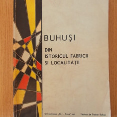 BUHUSI- DIN ISTORICUL FABRICII SI LOCALITATII- BOTEZ, BERLESCU, SAIZU - Carte Monografie