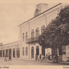 RAMNICUL SARAT, PRIMARIA ORASULUI - Carte Postala Muntenia 1904-1918, Ramnicu Sarat, Necirculata, Printata