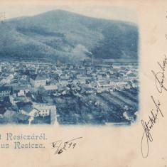 SALUTARI DIN RESITA, VEDERE GENERALA., CLASICA, CIRCULATA 1899 - Carte Postala Banat pana la 1904, Printata