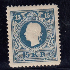 AUSTRIA 1866/70, MI 15, N. D. MNH, Nestampilat